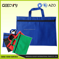 Bags 2015 reusable cheap polypropylene non woven waterproof zipper document bags for files, made in China