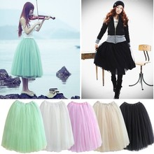 2015 fashion princess fairy style 5 layers bouffant 4 colors girls puffy dresses tulle skirt 5174