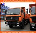 340hp 10 ruedas delanteras de inflexión Beiben volquete / camión volquete