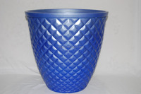 New style diamond Indoor&Outdoor PE Decorative Gardening Plastic FlowerPot