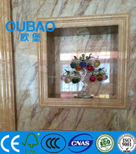 wall decorative faux marble PVC skirting picture frame moulding