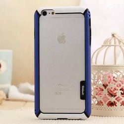 2015 New design Dual color silicon tpu bumper frame case for iphone 6 4.7 inch
