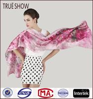 No MOQ customized digital printing silk scarf
