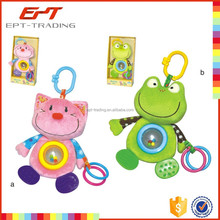Wholesale plush baby bed hanging toys with baby teether