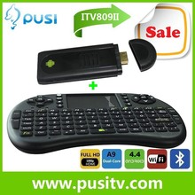 arabic iptv account+MK809/MK809II Smart TV Stick/Mini PC/android TV Dongle with Dual core RK3066 1GB RAM 8GB ROM Bluetooth