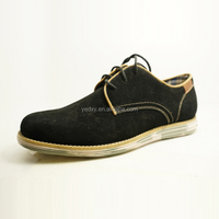 suede leather leisure flat outsole soft comfortable men easy wear casual shoes