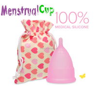 OEM feminine hygiene platinum FDA and CE approved silicone cup pink