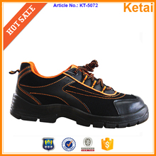 New unisex mechanic shoes black leather steel toe safety work shoes