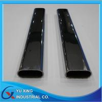 steel oval tube with tube holders chrome plating 30 mm x 15 mm