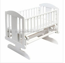 White Deluxe glider baby crib / solid wood baby crib