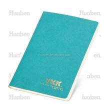 Lovely blue lucky notebooks UV printing logo