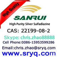 Cas 22199-08-2 Silver Sulfadiazine with GMP, High Purity Silver Sulfadiazine