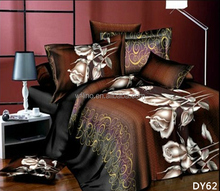 3d reactive printed fashion bedroom set 100% polyester wedding luxury bedding comforter sets king size bed