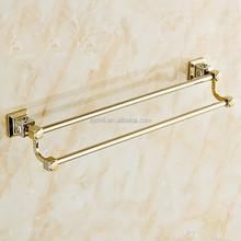 Zinc Twin Towel Bar, Gold Color Bathroom Accessories, X16533B