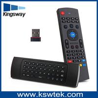orginal factory 2.4g wireless mini keyboard mx3 3d fly air mouse