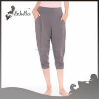 Custom sweat pants/ladies capri pants/women's jogging pants