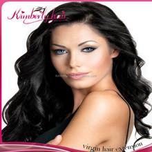 Kimberlyhair virgin peruvian peerless jerry curl weave extensions human hair