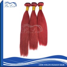red brazilian indian remi hair weave indian remy straight hair weave