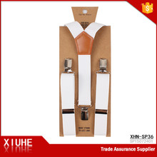 2015 hot sale fashion Y-Back suspender children white elastic braces