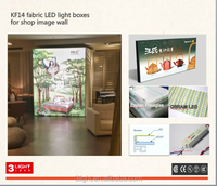 LED Fabric light boxes for shop image wall Germany material ENOVIC Plexiglas/Osram LED/Heytex