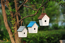 ALS-6112A WOODEN BIRD CAGE CARRIER HOUSE SET OF 3PCS