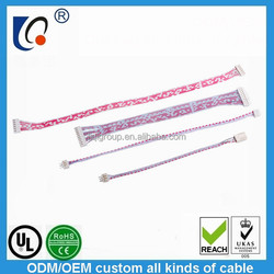 Supply link 2468 red and white ribbon cable wholesale custom electronic wire harness