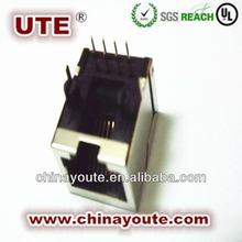 8P8C 180degree shield Rj45 Connector