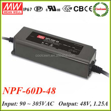 Meanwell NPF-60D-48 dimmable led strip driver
