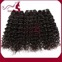 2015 Factory Stock Wholesale Vrigin peruvian jerry curl Hair weft
