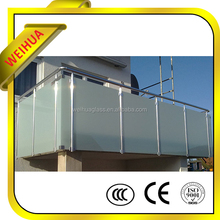 Acid Etched Laminated Safety Glass with CE / ISO9001 / SGS / CCC