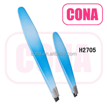 Professional high quality stainless steel eyebrow tweezers H2705