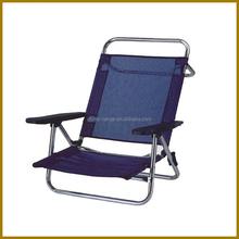 LG-BA-330 Yongkang LanGe aluminium and polyester aldult low seat good quality low seat folding beach chair fishing chair
