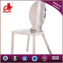 LC09 Modern stainless steel mirror dining chair table set