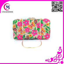 CT-0088 rose flower design clutch hand bag for the party and wedding