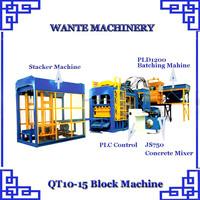 2015 NEW Products Automatic Cement Block Moulding Machine QT10-15