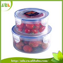 2015 new products easy lock round plastic container with lid set