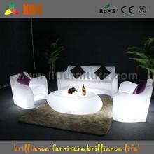 Colorful led sofa sets, illuminated led sofa, plastic led sofa