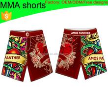 (Factory:ODM/OEM)custom sublimated mma fighting shorts 002