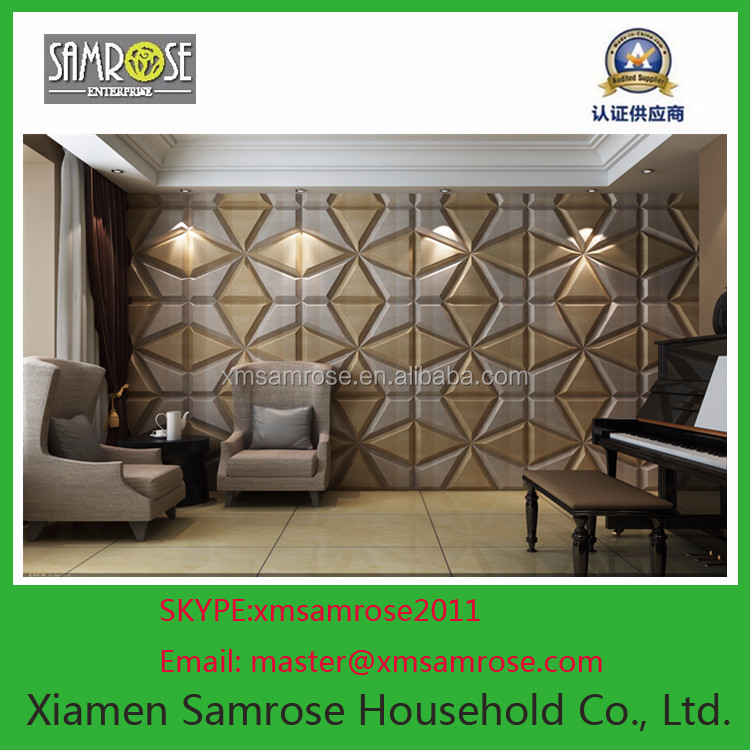 2015 China Factory Home Decor Wall Decoration 3d Faux Leather Guitar Wall Decoration