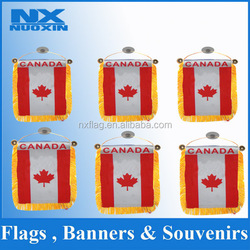custom screen printing polyester mini soccer team pennant flag