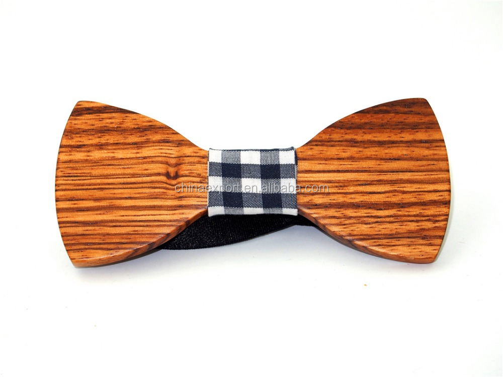 vogue small size wooden bow ties wholesale