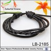 black braided wrap leather bracelet classical style leather beaded wrap bracelets