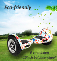 CE Certification and 1-2 hours Charging Time selfbalancing 2 wheel electric scooter 10 inch wheel