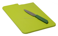 antibacterial plastic cutting board with knife
