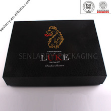2014 new product beautiful recycled gift box logo with bow made in china design certificated by ISO BV SGS