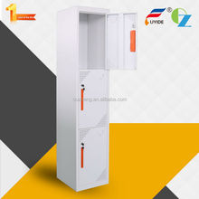 Factory direct sale popular durable flat metal locker with3 doors in white