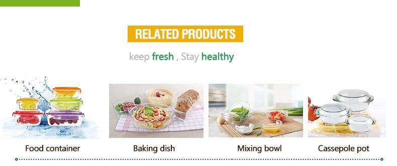 10 pcs recipiente de armazenamento de alimentos de vidro resistente ao calor set com caixa de cor presente