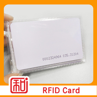 Low Cost Customized Printing Proximity Pvc Access Control Smart 125khz RFID Key Cards With Serial Number