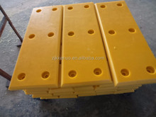 impact resistant bule/yellow/black UHMWPE plastic wharf sliding faced Dock bumper covers front pad