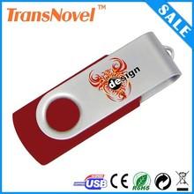 Cheapest Price Top Quality Logo Printed 4GB Swivel USB Flash Drive